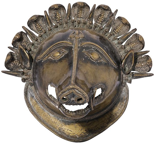 Varaha Wall Hanging Mask (Dhokra Art)