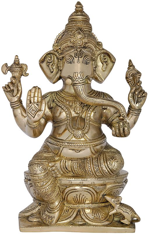 Lord Ganesha Granting Abhaya to His Devotees