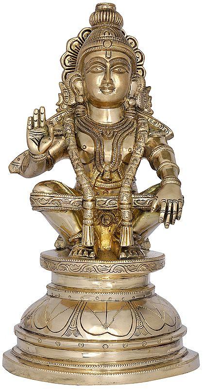 Fine Quality Ayyappan - A Saint Revered as Incarnation of Dharma