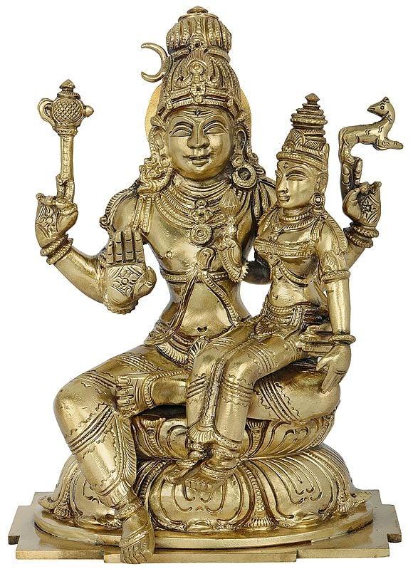 Bhagawan Shiva with Devi Parvati (Hoysala Art)
