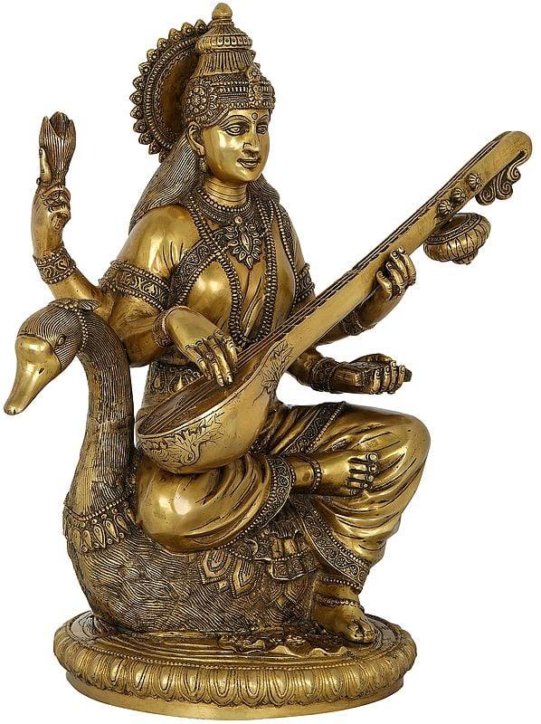 The Wise And Solemn Devi Sarasvati