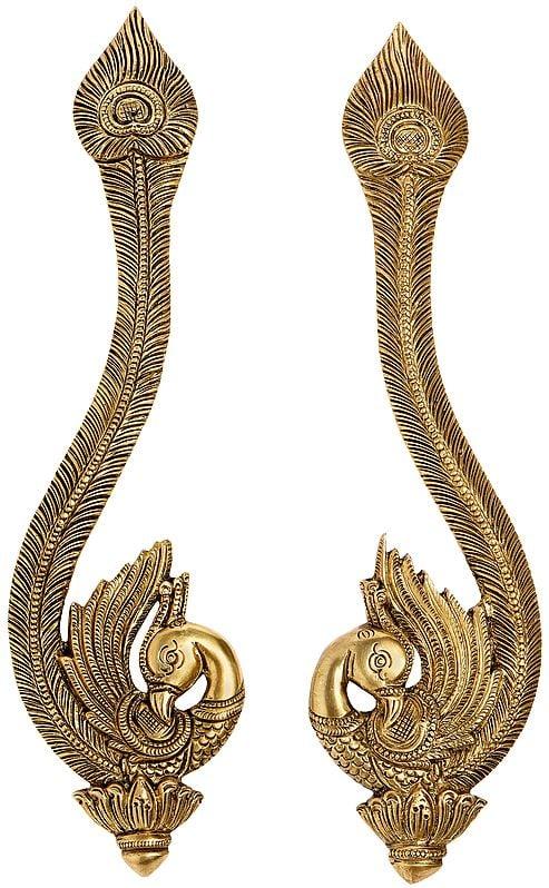 Superfine Designer Peacock Door Handles