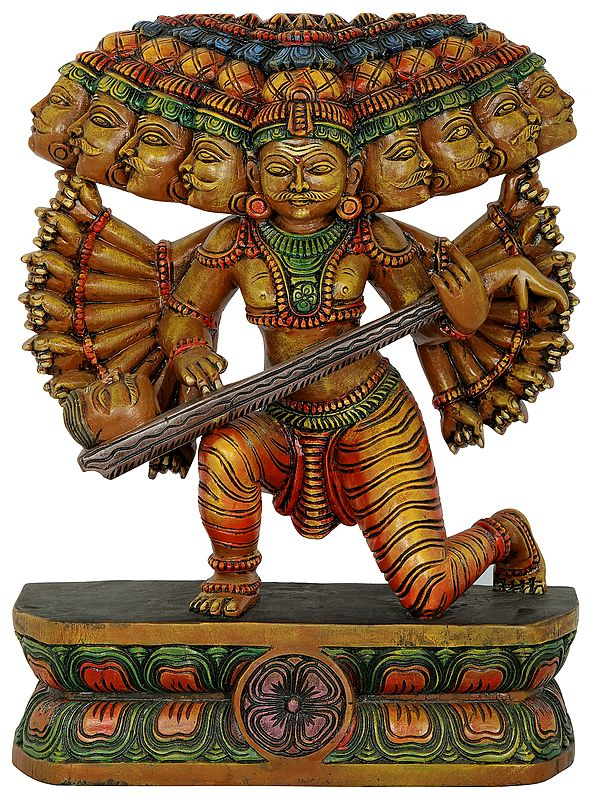 Ravana Offering Tenth Head As a Veena To Bhagawan Shiva