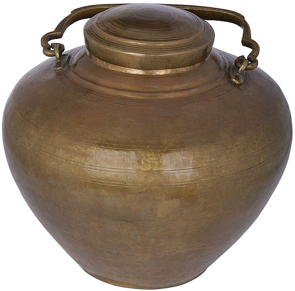 Brass Water Pot with a Lid