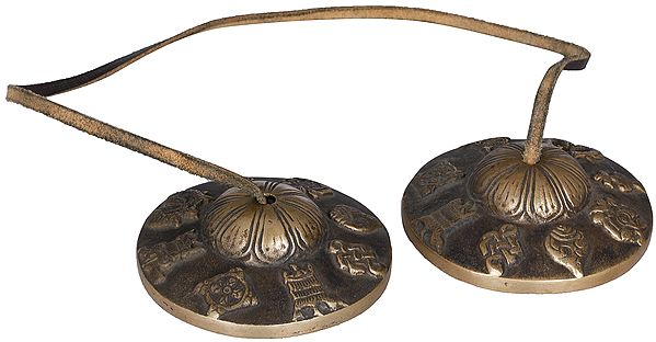 Tibetan Buddhist Ashtamangala Cymbals (Tingsha or Ting-Sha)