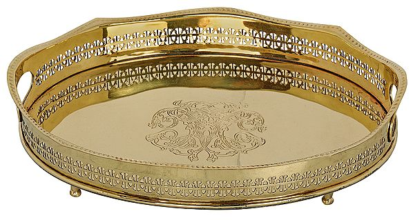 Stylized Tray with a Vented Boundary