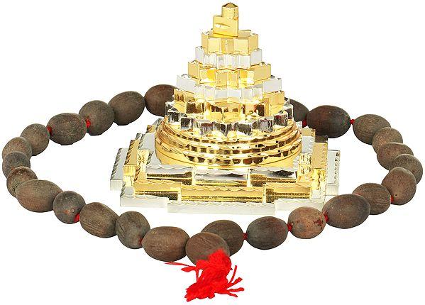 Shri Yantra with Mala (Meru)
