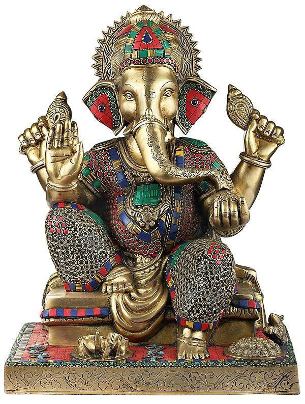 Colorful Inlayed Blessing Ganesha
