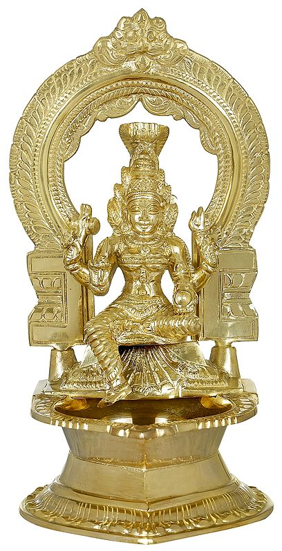 Goddess Mariamman Lamp from South India