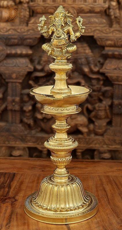 Superfine Ganesha Wick Lamp