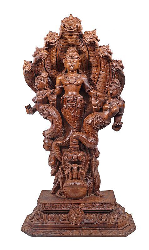 Mahavishnu-Bhoodevi-Shreedevi As Half-Sheshanaga