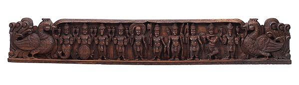 Large Vishnu Dashavatara (Wall Hanging Panel)