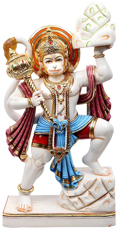 Lord Hanuman Carrying The Sanjeevni Herb