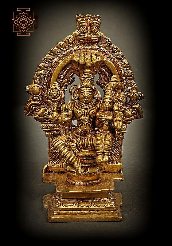 Lord Vishnu with Lakshmi - Small Size