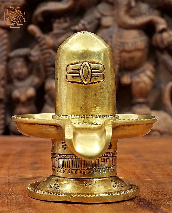 Shiva Linga with OM Carved on Base