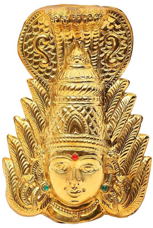 Goddess Mariamman Wall Hanging Mask (Durga of South India)