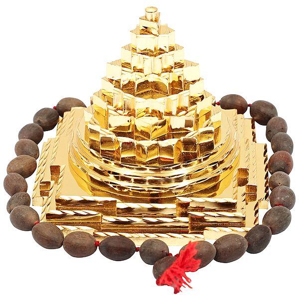 Shri Yantra with Beads Japa Mala (Meru)