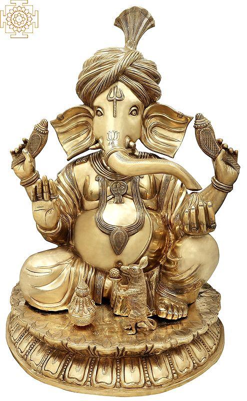 Superfine Large Pagdi (Turbaned) Ganesha