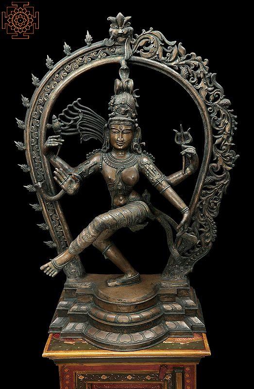 Large Dancing Ardhanarishvara