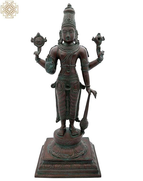 Chaturbhuja Bhagawan Vishnu Standing on Pedestal