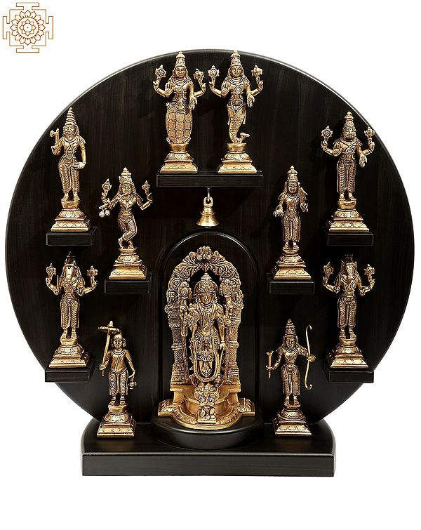 Circular Dashavatara Panel
