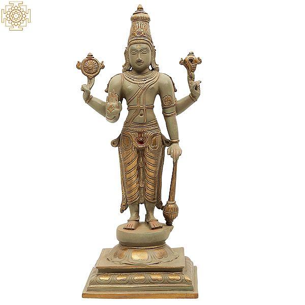 Bhagawan Vishnu Standing on Pedestal