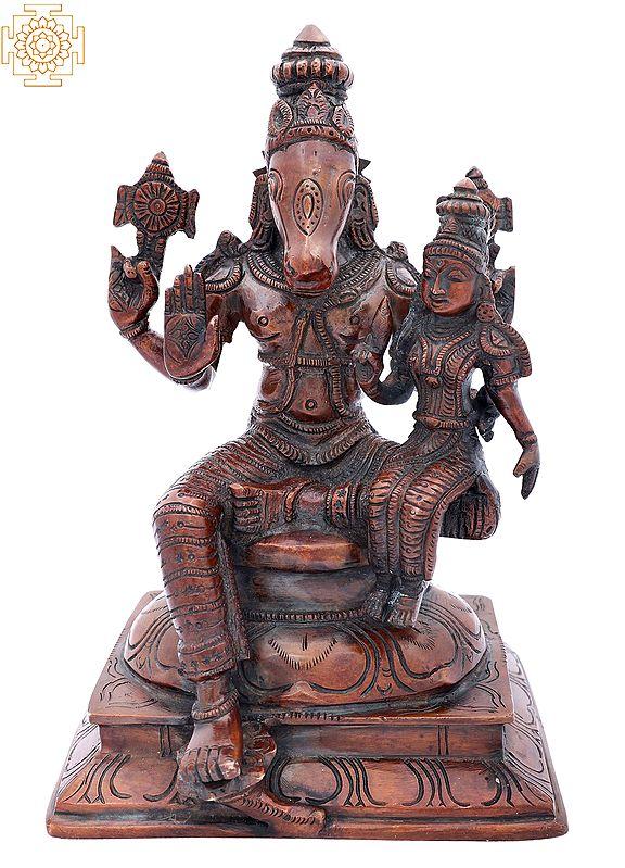 Varaha Avatara of Vishnu with Bhudevi Seated on Pedestal