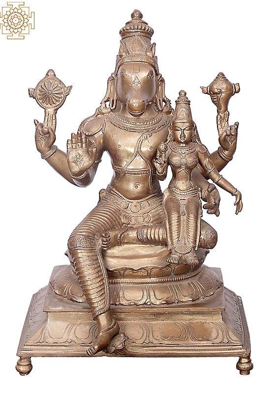 "15"" Bhagawan Varaha with Bhudevi   Handmade   Madhuchista Vidhana (Lost-Wax)   Panchaloha Bronze from Swamimalai"