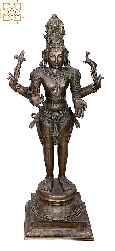 "40"" Large Shiva | Handmade | Madhuchista Vidhana (Lost-Wax) | Panchaloha Bronze from Swamimalai | Made In India"