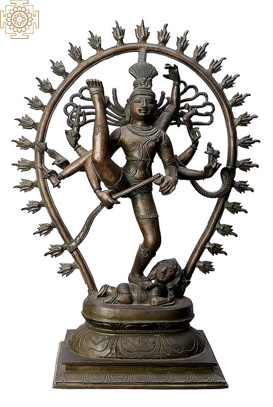 "18"" Urdhava Tandava (Shiva Tandava) | Handmade | Madhuchista Vidhana (Lost-Wax) | Panchaloha Bronze from Swamimalai"