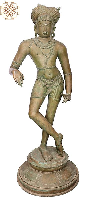 "59"" Large Superfine Rishaba Devar | Handmade | Madhuchista Vidhana (Lost-Wax) | Panchaloha Bronze from Swamimalai"