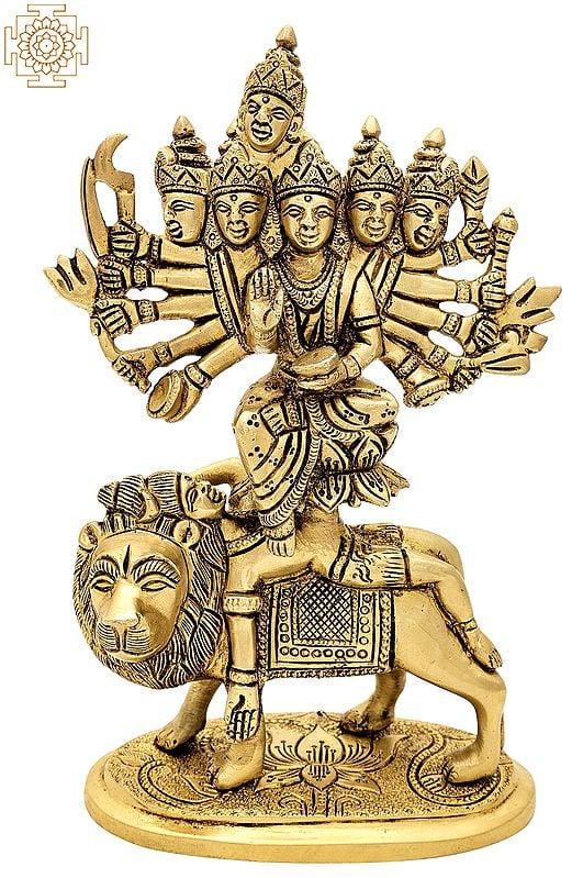 "8"" Kamakhya Devi   Brass Statue   Handmade   Made In India"