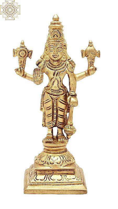 "6"" Standing Bhagwan Vishnu | Handmade | Lord Vishnu  | Lord Narayana Statue | Made in India"