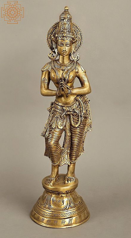 """28"""" Large Sized Gracious Namaste Lady 
