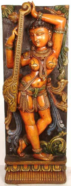 Apsara with Sitar