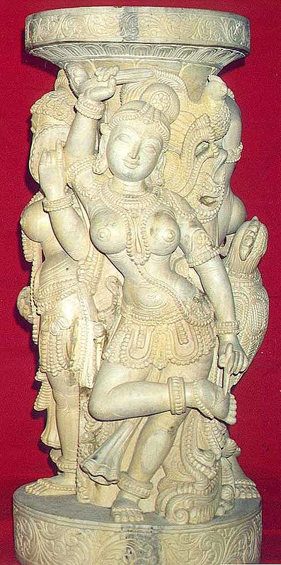 Apsaras on Column Piece
