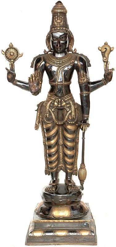 Large Size Chaturbhuja Narayana Vishnu