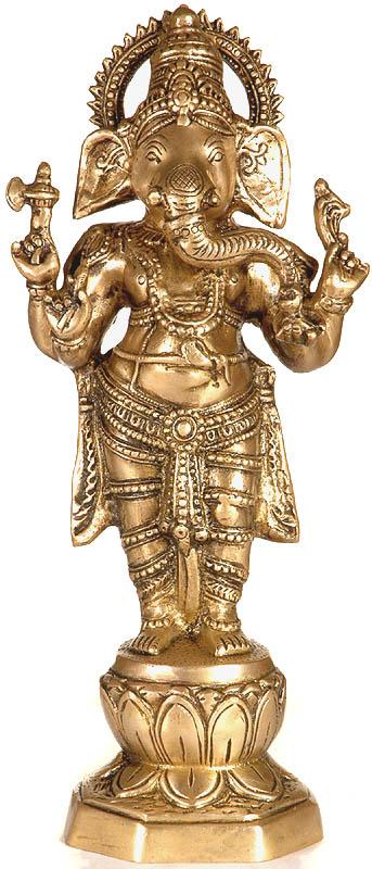 Chaturbhuja Standing Ganesha