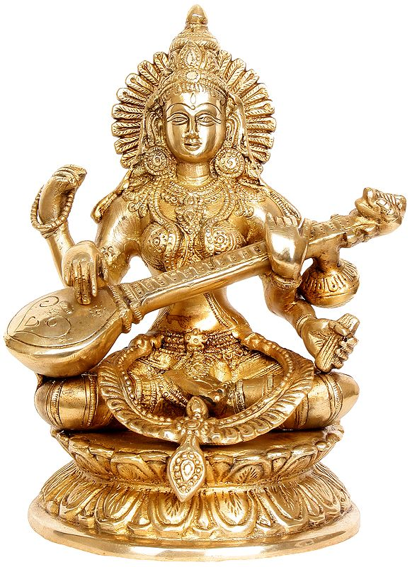 Mother Saraswati - A True Picture of Wisdom and Affection