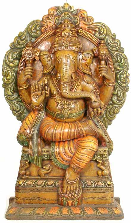 Enthroned Ganesha