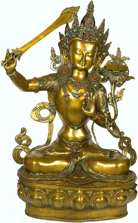 Large Size Manjushri, Buddhist God of Wisdom (Tibetan Buddhist Deity)
