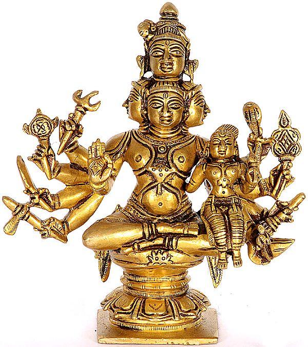 Five Headed Shiva with Shakti (Sadashiva)