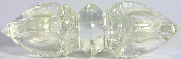 Five Pronged Dorje (Carved in Crystal)