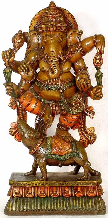 Ganesha Dancing atop his Rat