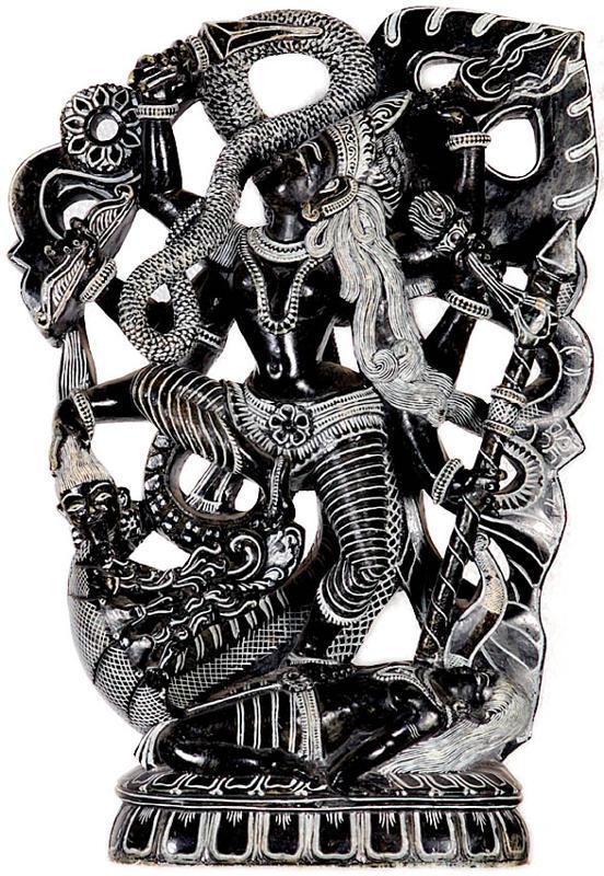 Goddess Kali Dancing the Dance of Death