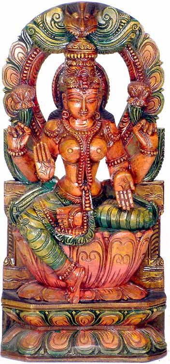 Goddess Lakshmi in Lalitasana