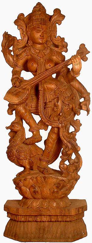 Vina-Vadini, Mayura-Vahani, Kamalasana Saraswati