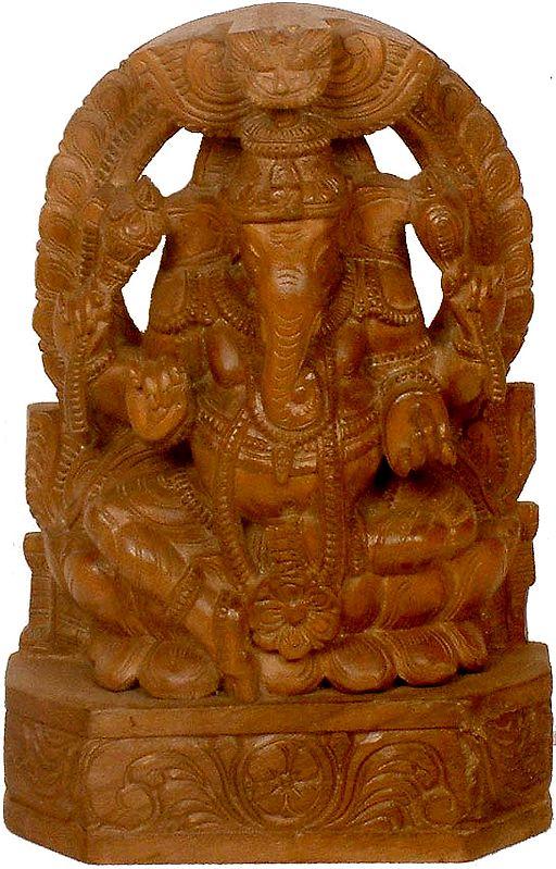 Lord Ganesha Seated in Lalitasana