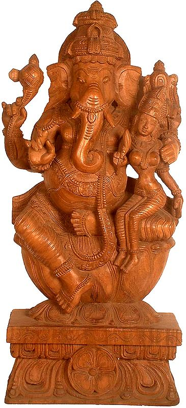 Lord Ganesha with His Consort