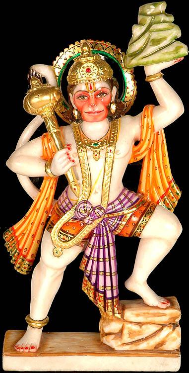 Lord Hanuman with Mount Sanjeevani